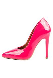 Scarpin Factor Salto Alto - Chiclete Rosa