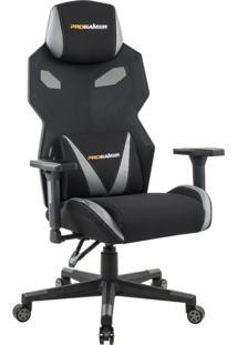 Cadeira Gamer Executiva Pro-X Gaming Reclinável Giratória Preto/Cinza - Gran Belo