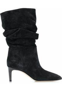 Paris Texas Ankle Boot Com Franzido - Preto