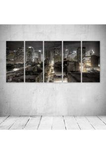 Quadro Decorativo - Dark New York - Composto De 5 Quadros - Multicolorido - Dafiti
