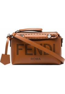Fendi Bolsa Transversal By The Way Mini - Marrom