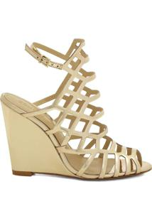 Sandã¡Lia Anabela Metalizada- Dourada- Salto: 10,5Cmschutz
