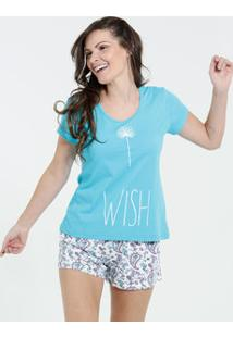 Pijama Feminino Short Doll Estampa Paisley Marisa
