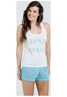 Pijama Feminino Short Doll Love Marisa