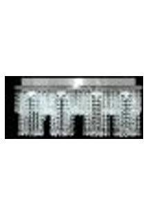 Lustre De Cristal Legítimo Infinity 60X15X21Cm Para 4 Lâmpadas Dicroicas - Infinity-60