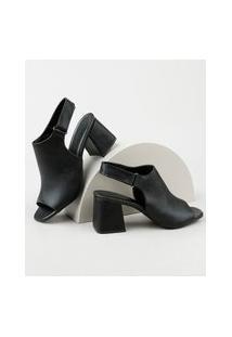 Sandal Boot Feminina Oneself Salto Médio Preta