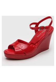 Sandália Petite Jolie Transpasse Vermelha