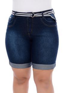 Bermuda Jeans Plus Size Pedal De Barrinha Virada-60
