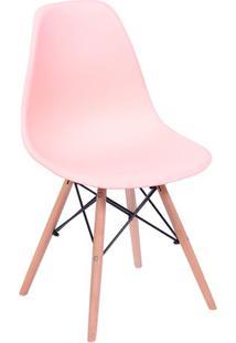Cadeira Eames Dkr- Salmã£O & Bege Claro- 80,5X46,5X42Or Design