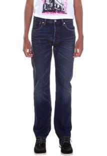 Calça Jeans Levis 501 Original Masculina - Masculino-Azul Escuro