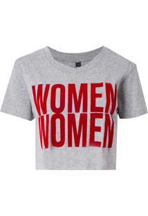 Camiseta John John Women Malha Algodão Cinza Feminina (Cinza Mescla Claro, Pp)