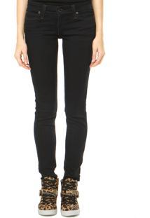 Calça Jeans Levi'S Low Dc Skinny Pespontos Azul