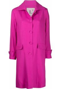 L'Autre Chose Trench Coat Com Abotoamento Simples - Rosa