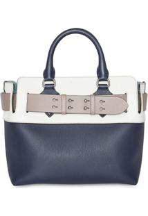 Burberry Pochete The Small De Couro - Azul