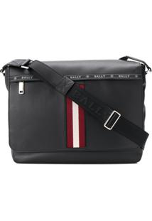 Bally Stripe Detail Oversized Shoulder Bag - Preto