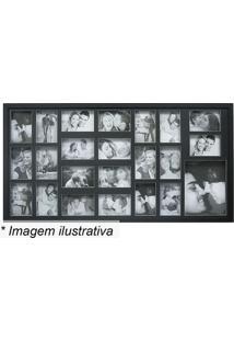 Painel Para 23 Fotos- Preto- 53X103X2Cm- Kaposkapos