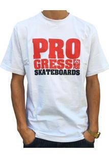Camiseta Pgs Pro Skateboards Masculina - Masculino-Branco