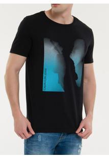 Camiseta Ckj Mc Est Logo Musical - Preto - Pp