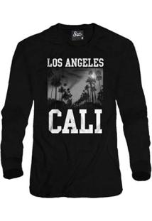Casaco Moletom Skull Clothing Los Angeles Masculino - Masculino-Preto