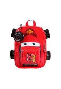 Mochila Escolar Carros Disney 3D Mcqueen