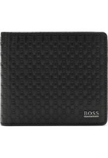 Boss Hugo Boss Carteira De Couro - Preto