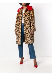 Dolce & Gabbana Sobretudo Animal Print - Marrom
