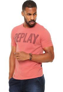 Camiseta Replay Silk Coral