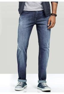 Calça Jeans Masculina Hering Na Modelagem Slim