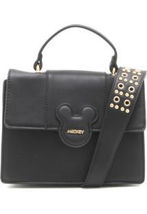 Bolsa Mickey Mouse Ilhós Preta