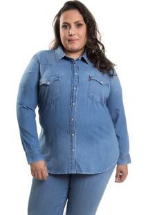 Camisa Jeans Levis Western Plus Size - 2X