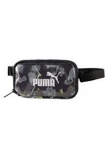 Pochete Puma Core Seasonal Sling Pouch 077384-01, Cor: Preto/Branco, Tamanho: Único