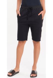 Bermuda Moletom Ck Black Loungewear - Preto - S
