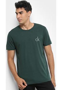 Camiseta Calvin Klein Slim Recorte Na Manga Ck Relevo - Masculino