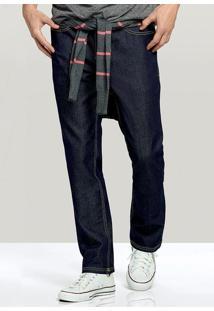 Calça Jeans Masculina Hering Com Costura Em Cor Contrastante