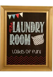 Quadro Decorativo Vintage De Parede Com Moldura Laundry Room