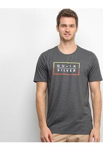 Camiseta Quiksilver Clued Up Masculina - Masculino-Preto