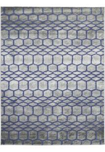 Tapete Geométrico Ric- Azul Escuro & Bege- 250X195Cmtapete São Carlos