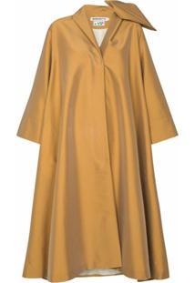 Bernadette Trench Coat Christian Com Detalhe De Laço - Neutro
