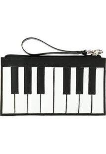 Sarah Chofakian Clutch 'Piano' Decouro - Preto