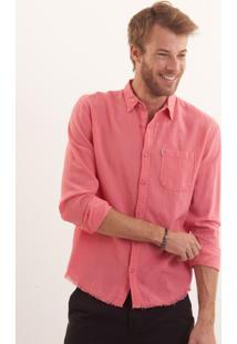 Camisa John John Linen Cherry Linho Vermelho Masculina Camisa Linen Cherry-Vermelho Claro-G