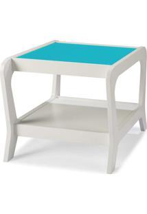 Mesa Lateral 0493-0-288 Marley Maxima Branco/Azul Claro