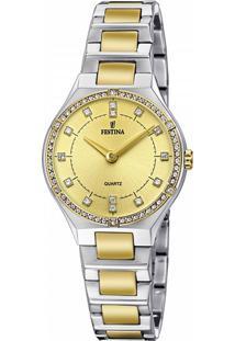 ... Relógio Festina Feminino Aço Prateado E Dourado - F20226 2 4312e5b37c