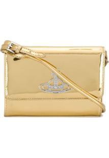 Vivienne Westwood Bolsa Transversal Com Efeito De Brilho - Dourado