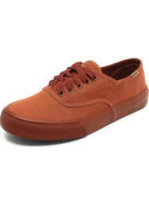 Sapatênis Coca Cola Shoes Recortes Caramelo
