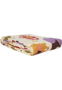 Kit De Colcha Solteiro Com Porta Travesseiro Corttex Bege