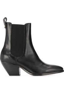 Sandro Paris Ankle Boot Cowboy Raph - Preto