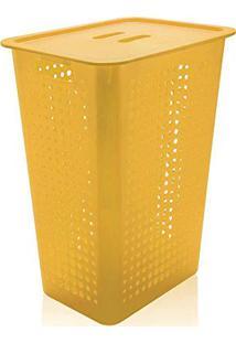 Cesto De Roupa De Plástico Ou Amarela 47 Litros - Co570