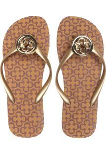 Chinelo Capodarte Logo Dourado