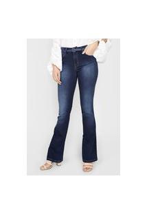 Calça Jeans Forum Bootcut Pespontos Azul-Marinho