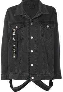Artica Arbox Jaqueta Jeans Oversized - Cinza